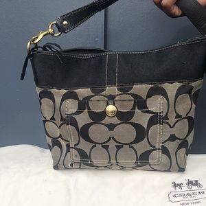 "Coach Black Hobo Bag 14.5""L x 10""W x 5""H"